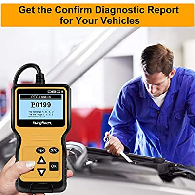 kungfuren OBD2 Scanner, Universal OBD2 Code Reader Car Automotive Check Engine Light Error Analyzer Auto CAN Vehicle Diagnostic Scan Tool for OBDII Protocol Cars Since 1996: Automotive