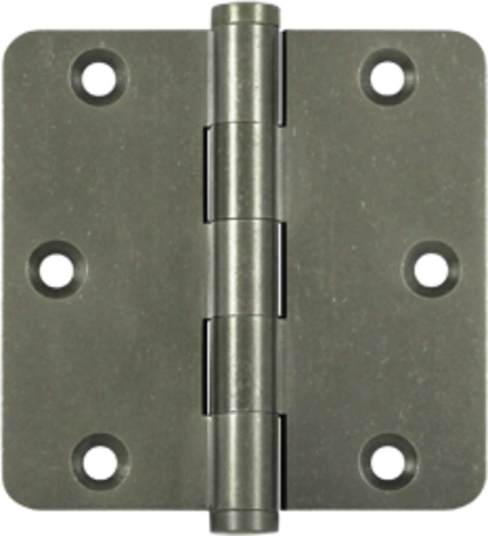 3 1/2''x 3 1/2''x 1/4'' Radius Hinges White Bronze Medium