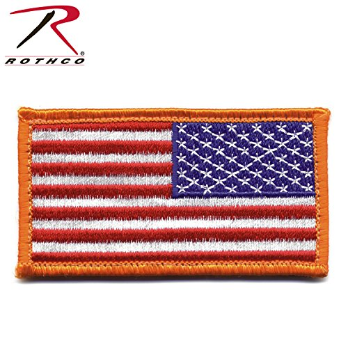 (Rothco Reverse American Flag Patch with Hook Back)