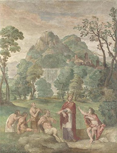 'Domenichino And Assistants - The Judgement Of Midas,1616-18' Oil Painting, 24x31 Inch / 61x79 Cm ,printed On Perfect Effect Canvas ,this Reproductions Art Decorative Prints On Canvas Is Perfectly Suitalbe For Home Office Gallery Art And Home Decoration And Gifts