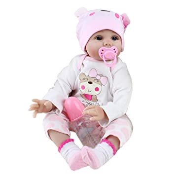 Amazon.com: TwJim Newborn Girl Baby Doll & 22inch Handmade Lifelike ...