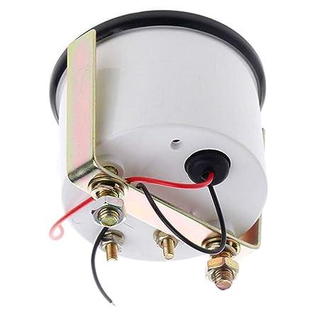 omufipw 12 V Kraftstoffstandanzeige Meter Mechanische Analoge Rote LED Auto Marine Boot Sensor /Ölstandanzeige