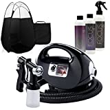 Black Fascination Spray Tanning Machine and Kit with Norvell Airbrush Tan Solution Bundle and Black Tent