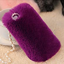 "iPhone 5S Case, Firefish [Design For Winter] With Tiny Exquisite Bowknot Warm Fluffy Touch Slim Fur Case Cover for Apple iPhone 5/5S (4.7"")+ Premium Stylus and Pluggy -Purple"
