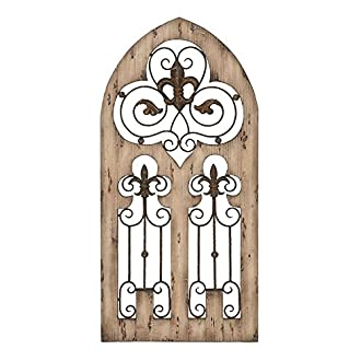 Deco 79 Wood Metal Wall Decor, 50 by 24-Inch