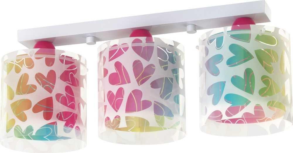 LED Lampe Kinderzimmer Decke Deckenleuchte Herz 41183 Warmweiß 800lm Mädchen