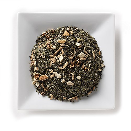 Mahamosa Sweet and Smoky Orange Mate Tea 2 oz - Loose Leaf Yerba Mate Herbal Tea Blend (with green and roasted mate, licorice root, orange peels and blossoms, natural (Herbal Sweet Licorice)