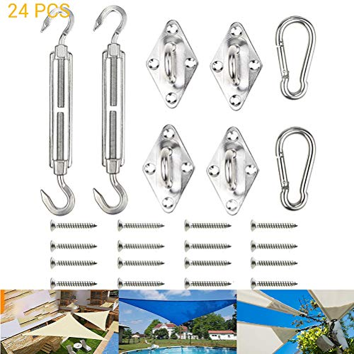 Yeawooh Awning Hardware Kit, Awning Attachment for Triangle Square Rectangle Shade Sail Attachment