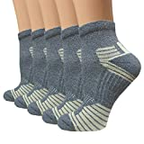 Sport Plantar Fasciitis Compression Socks Arch Support Ankle Socks - 5 Pack - Best For Running, Athletic, and Travel (S/M, Gray)