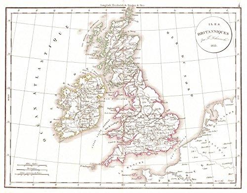 - Historic Map | 1834 Iles Britanniques | Delamarche, Félix