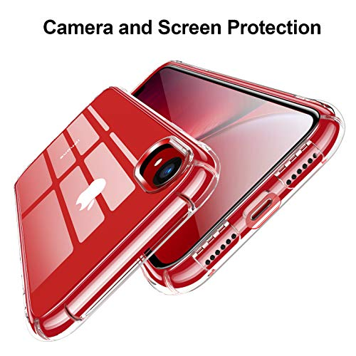 """CANSHN Compatible with iPhone XR Case 6.1"""", Clear Protective Heavy Duty Case with Soft TPU Bumper [Slim Thin] Case…"""