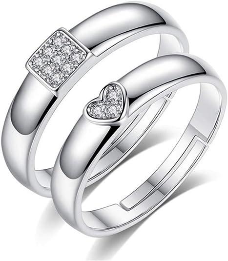24 JOYAS Natale coppia di anelli regolabili anniversario. Regalo romantico fedi per innamorati ideale per fidanzamento