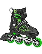 Roller Derby ION 7.2 Inline Skates with Aluminum Frames and Adjustable Sizing for Growing feet