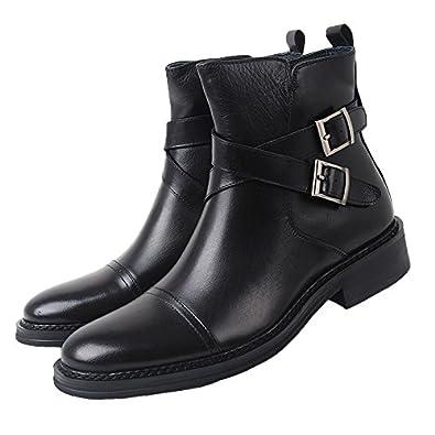 Amazoncom Santimon Mens Genuine Leather Handsewn