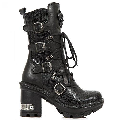 New Rock Laarzen M.neotyre05-c2 Gothic Hardrock Punk Damen Stiefel Schwarz