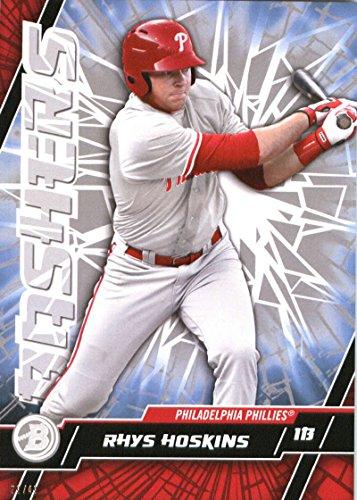 RARE 2017 Bowman High Tek Baseball Card 5x7 Bashers #B-RH Rhys Hoskins Serial #/49