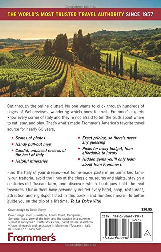 519mfCKD9mL - Frommer's Italy 2019 (Complete Guides)