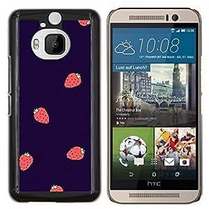 Dragon Case - FOR HTC One M9+ / M9 PLUS - strawberry summer berries purple red - Caja protectora de pl??stico duro de la cubierta Dise?¡Ào Slim Fit