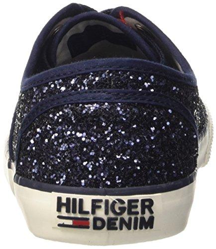 Tommy Hilfiger H1385ilton 3g, Sandalias con Plataforma para Mujer Blu (Midnight 403)