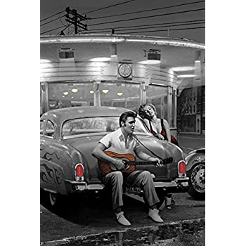 Legendary Crossroads Chris Consani Elvis Marilyn Cars Movies Print Poster 24x36
