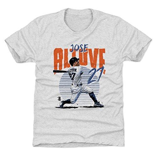 500 LEVEL Houston Astros Youth Shirt - Kids Small (6-7Y) Tri Ash - Jose Altuve Rise B