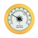 Quality Importers 1-3/4-Inch Round Glass Analog Hygrometer for Humidors