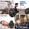 CicoYinG Heart Rate Monitor Watch for Android/iOS Phone, Waterproof Sport Fitness Trackers Smart Watch, Pedometer Watch with Sleep Monitor, Step Counter for Women Men (Black)