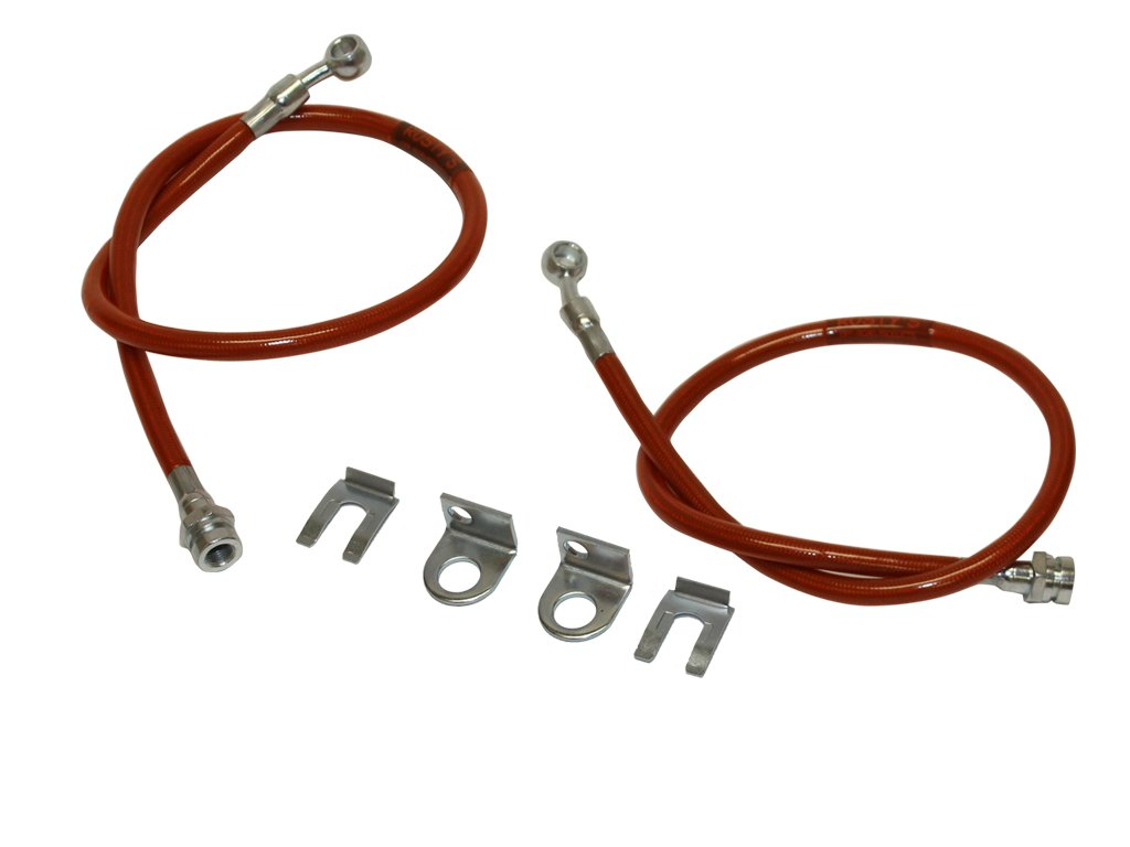 Rusty's Off-Road Stainless Steel Extended Front Brake Hoses - Jeep XJ, TJ, YJ, ZJ, CJ, MJ Rusty' s Off-Road