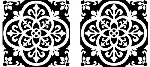 FloorPops FP2475 Gothic Peel & Stick Tiles Floor Decal Black (Twо Pаck) by FloorPops (Image #5)