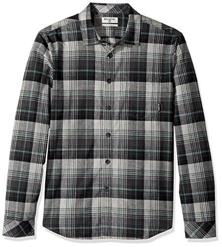 Billabong Men's Coastline Flannel Shirt, Black, Medium