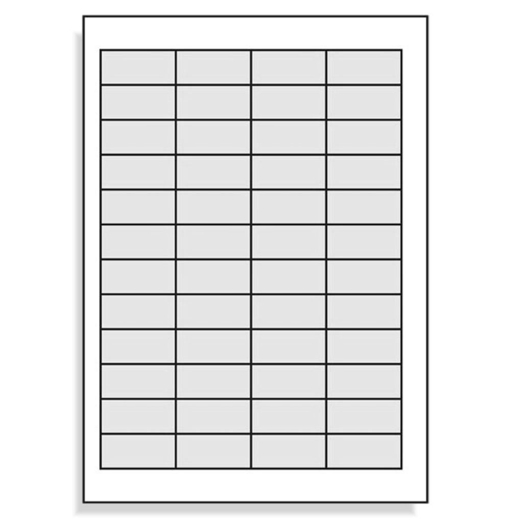 Etichette 45,7/x 21,2/mm per A resistente agli intemp/éries-transparent-lot di 4/ /4/x 12//480/folienetiketten-page