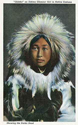 Alaska - View of Obleka, an Eskimo Native Girl in Costume (12x18 Art Print, Wall Decor Travel Poster)