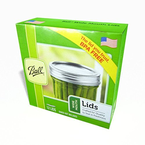 3 X Ball Wide Mouth Dome Lids, 12 per Box - Pack of 4 (48 Lids Total)