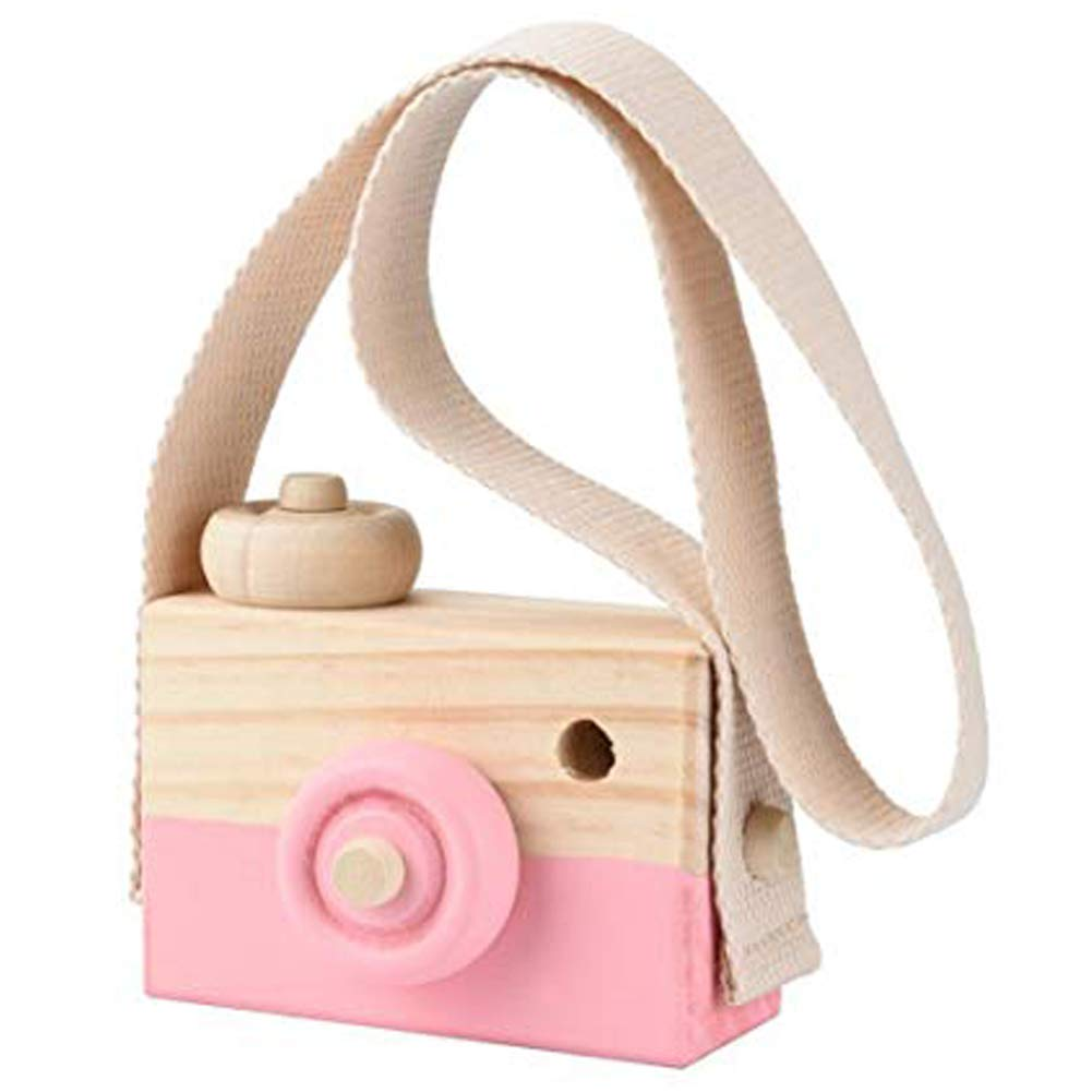 PoeHXtyy Wooden Mini Camera Toy Pillow Kids Room Hanging Decor Portable Toy Gift