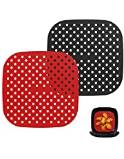 Nuovoware Reusable Air Fryer Liners, Air Fryer Basket Mats, Non-Stick Silicone Air Fryer Accessories