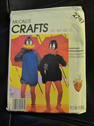 McCalls 2747 Road Runner & Daffy Duck Costumes Vintage Size Adult (Roadrunner Costume Pattern)