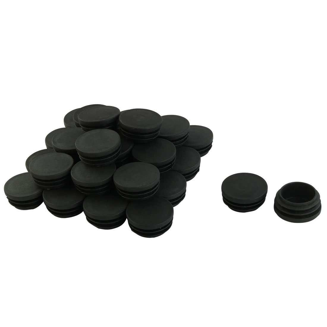 uxcell Plastic Blanking End Caps Inserts Bung Round Pipe Tube Insert 38mm Dia Thread 30pcs Black a14112500ux0062