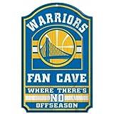 NBA Golden State Warriors 38400012 Wood Sign, 11'' x 17'', Black