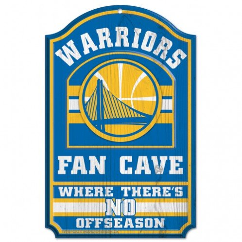 NBA Golden State Warriors 38400012 Wood Sign, 11'' x 17'', Black by WinCraft