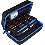 New 3DS XL Case by TAKECASE - Compatible with New 2DS XL - Travel Carrying Case Includes XL Stylus, Protective Hard Shell, 16 Game Storage, Accessories Pouch - Blue/Black [UPDATED FEB 2018]