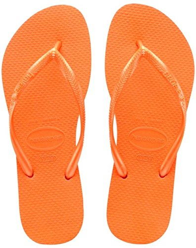 Havaianas Slim, Chanclas Mujer Naranja (Neon Orange 5206)