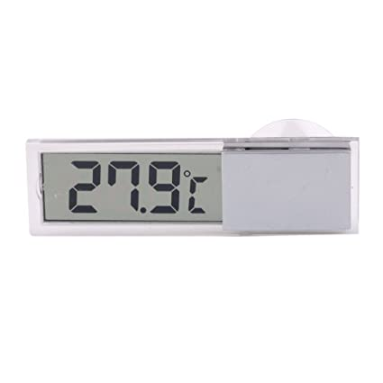 SODIAL(R) Sensor de temperatura digital LCD camion auto Ventosa Termometro exterior / interior