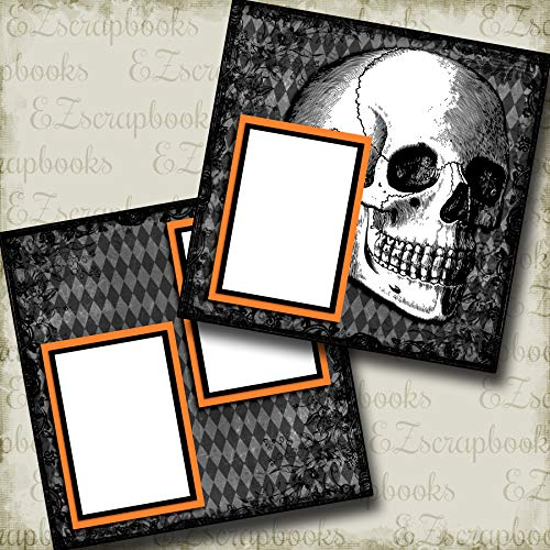 The Skull - Halloween - Premade Scrapbook Pages - EZ Layout 3346 -