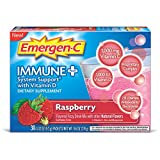 Emergen-C Immune+ (30 Count, Raspberry Flavor) System Support Dietary Supplement Fizzy Drink Mix With Vitamin D, 1000mg Vitamin C plus Antioxidants & Electrolytes, 0.32 Ounce Packets Review
