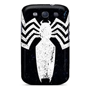 Shock Absorption Hard Phone Cases For Samsung Galaxy S3 With Customized High Resolution Venom Logo Skin MansourMurray
