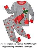 Family Feeling Little Boys Girls Long Sleeve Christmas Pajamas Sets 100% Cotton Pyjamas Kids Pjs Size 6 Dinosaur