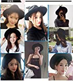 Generic The same paragraph large brimmed fedora Beautiful hair Korean version of the new School of wind minimalist fashion personality women girls lady hat