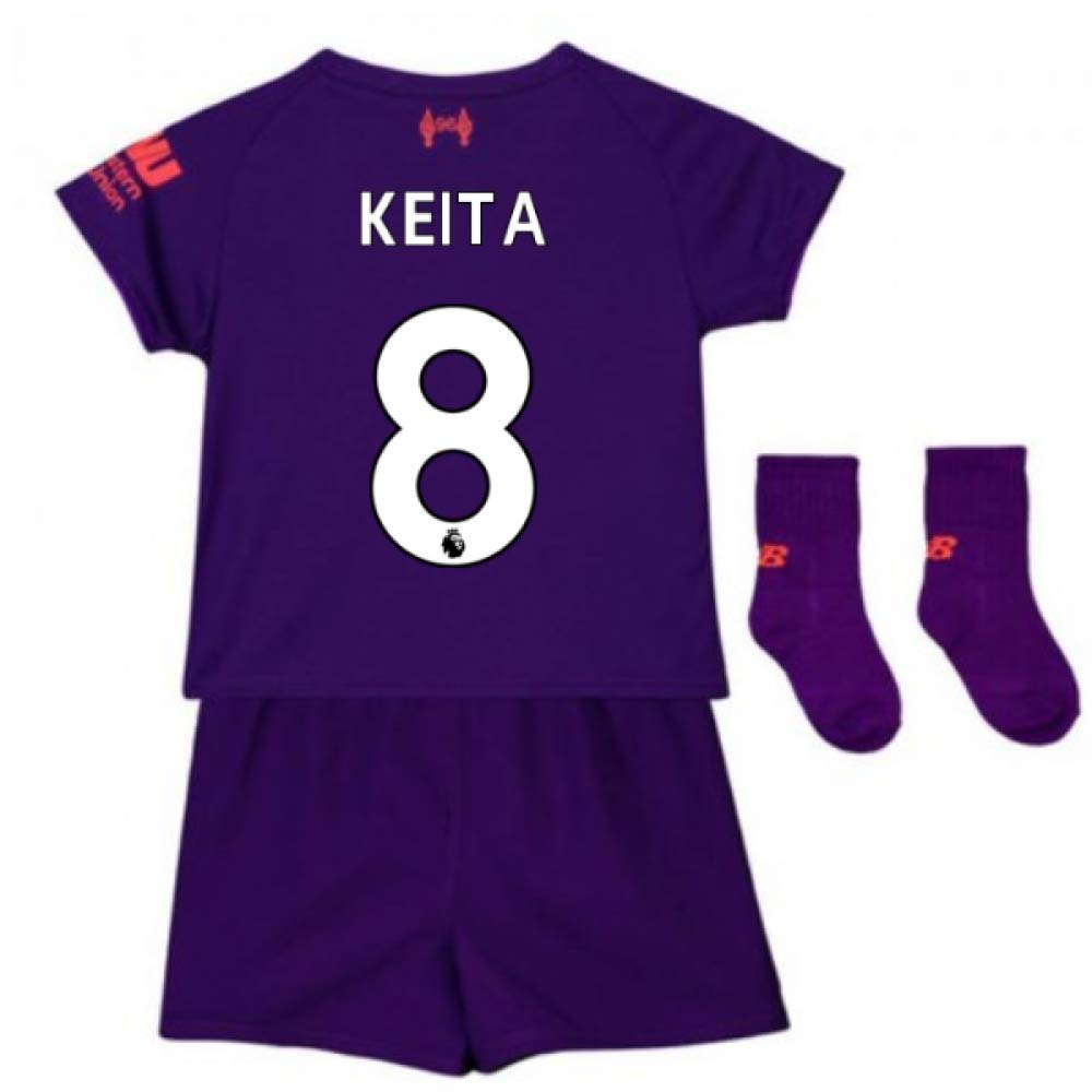 UKSoccershop 2018-2019 Liverpool Away Baby Kit (Naby KeïTA 8)