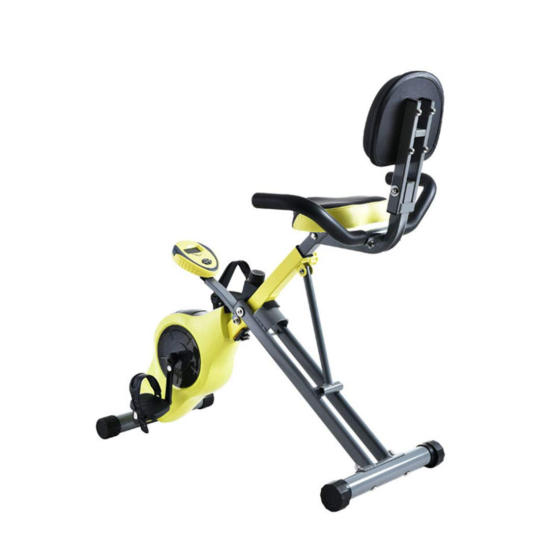 FELICIAAA ホームオフィスフィットネス折りたたみ磁気制御回転自転車多機能怠惰な車 (Color : イエロー)  イエロー B07NCLB3D6