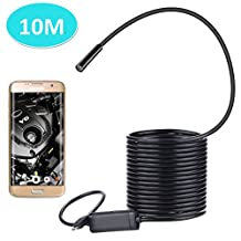 BlueFire Android OTG 2.0MP HD Micro-USB Endoscope Waterproof Borescope Snake Inspection Tube Pipe Camera Cable for Samsung Galaxy S5 S6 S7 Note 3 4 5 6(10M)